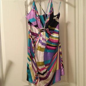 Emilio Pucci silk printed dress w crystals 8 10 44